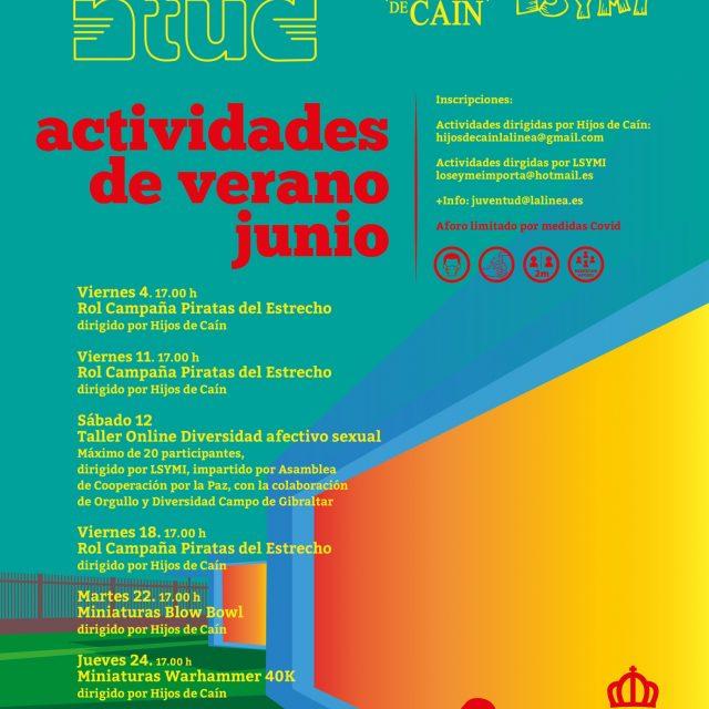 Juventud organiza un calendario de actividades para junio con la colaboración de Lo Sé y Me Importa y Los Hijos de Caín